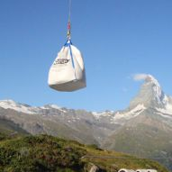 Big Bag Transport mit Helikopter